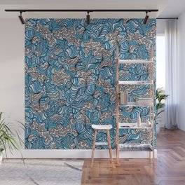 Gray Day with Blue Feelings Wall Mural