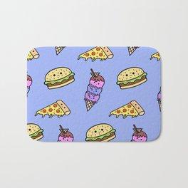 Fast Food Cuties (Blue) Bath Mat