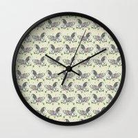 my little pony Wall Clocks featuring MY LITTLE PONY by MINIZUKA