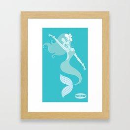 Blue Siren Framed Art Print