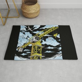 Tower Crane In The SKY Rug