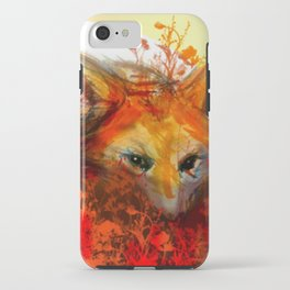 Fox in Sunset III iPhone Case