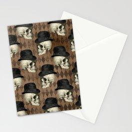 Victorian Framework Skulls Goth Skeleton Gothic  Stationery Cards