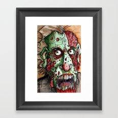 snot nosed boil zombie Framed Art Print