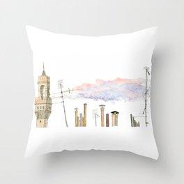 Italian Chimneys Throw Pillow