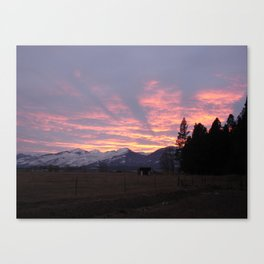 #406 sunset coming to calif sunday 1 26 14 Canvas Print