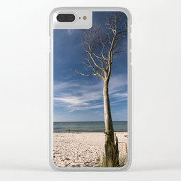 storm-tossed tree at the sea - Beach Ocean Clear iPhone Case