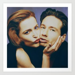 The Schmoopies - Gillian and David Art Print