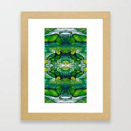 Bright Green Abstract Design Art Framed Art Print