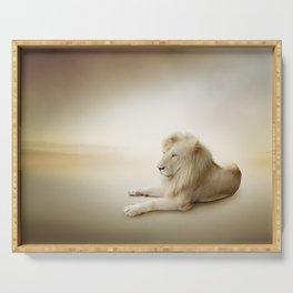 White Lion Serving Tray