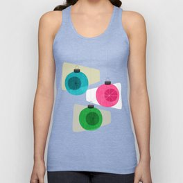 Retro Holiday Baubles Unisex Tank Top