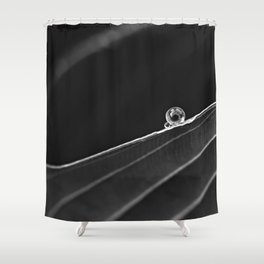 two drops in black and white Shower Curtain
