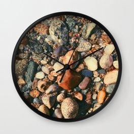 Ocean Pebbles Wall Clock