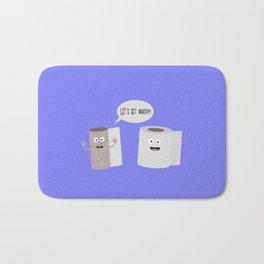 Toilet roll tissue cartoon Bath Mat