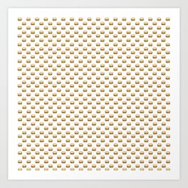 Cheeseburger Pattern Art Print