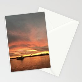The Tugboat - Sunsets at The Fly series Stationery Cards