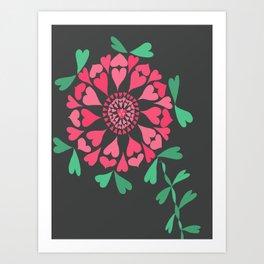 Another wonderland flower Art Print