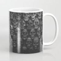 skulls Mugs featuring SKULLS by Danielle Fedorshik