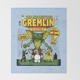 The Mischievous Gremlin Throw Blanket