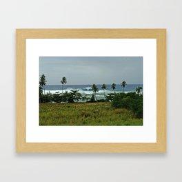surf rincon pr Framed Art Print