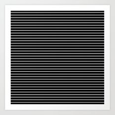 MINI STRIPES - BLACK Art Print
