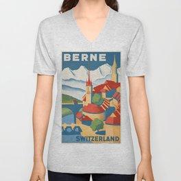 Vintage poster - Berne Unisex V-Neck