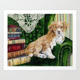 Sir Beckett, Dog With An Education Art Print