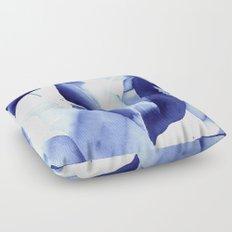 Royal Blue Palms no. 2 Floor Pillow