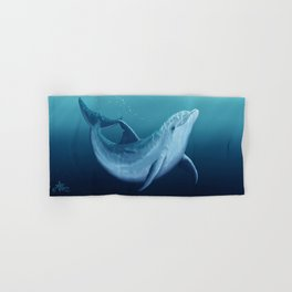 """""""Riversoul Blue"""" by Amber Marine ~ Dolphin Art, (Copyright 2014) Hand & Bath Towel"""