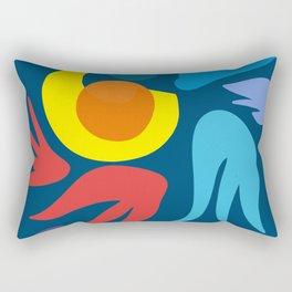 Blue Night Dream Abstract Art Rectangular Pillow