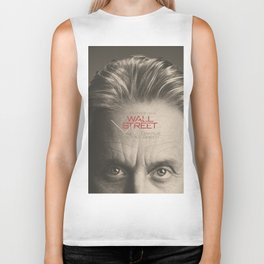Wall Street, alternative movie poster, Gordon Gekko, Oliver Stone, film, minimal fine art playbill Biker Tank
