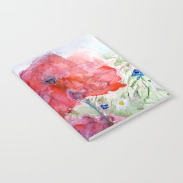 Painted Poppy Notebook