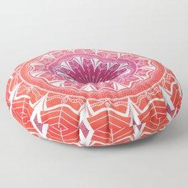 Pink & Orange Flower Mandala Floor Pillow