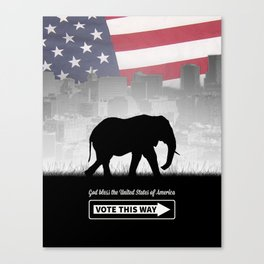 Vote This Way Canvas Print