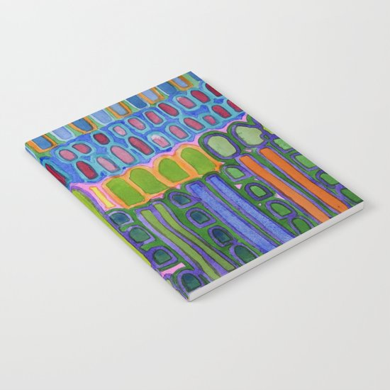 Colorful elongated Forms Pattern Notebook