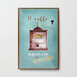 Coffee Ground with Love Metal Print