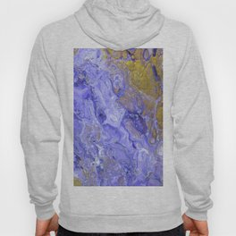 Purple Waves, pouring abstract acrylic Hoody