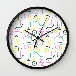 memphis pattern Wall Clock