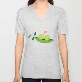Two Peas in a Pod Unisex V-Neck