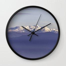 Snowy Italian Apennines mountains Wall Clock
