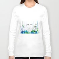 waterfall Long Sleeve T-shirts featuring waterfall by Lua Fraga