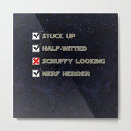 Star Wars Nerf Herder Survey.  Starry background Metal Print