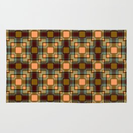 Brown abstract Checkered pattern . Rug