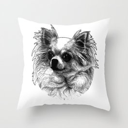 papillon dog Throw Pillow