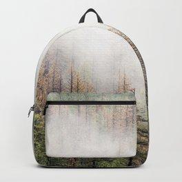 Misty Forest Scene Backpack