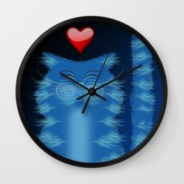 RIBBA THE CAT Wall Clock