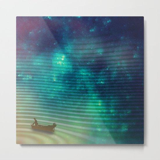 The Space Fisherman Metal Print