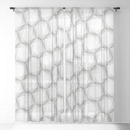 crazy hexagons Sheer Curtain