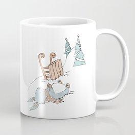 Bunny Sledding Coffee Mug