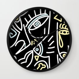 Line art abstract 005 Wall Clock